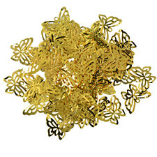 50pcs Filigree Hollow Butterfly Cut Pendant Charms Jewelry Making Findings