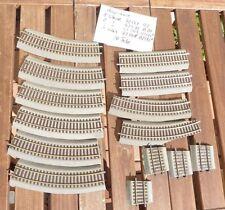 Roco 42522,42530,42509,42508 Konvolut 14 x Roco Line Gleise und Teile m.Bettung