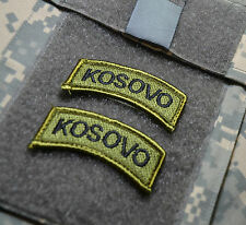 NATO KOSOVO FORCE KFOR US ARMED FORCES CAMP BONDSTEEL INSIGNIA TAB: KOSOVO X 2