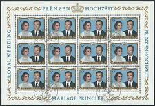 Luxemburg - Hochzeit Henry u. Maria Teresa Keinbogen gestempelt 1981 Mi. 1036