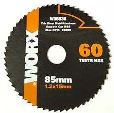 WORX WA5036 WORXSAW 85 mm 60T HSS Blade WORX Cutting Disc