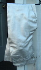 SILVER LEATHER PANTS Italian Made ROCK AND ROLL