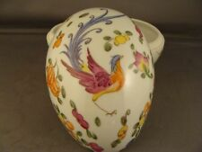 CHAMART LIMOGES ASIAN INSPIRED FRUIT BIRD AND BUTTERFLY EGG SHAPED BOX