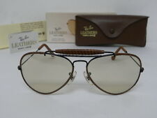 New Vintage B&L Ray Ban Outdoorsman Leathers Woven W0552 Black Brown Changeable