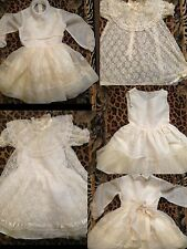 Lot 3pc Vtg Sheer Lace Dresses & Undercoat Sz 6 Doris Brosk Fun Frills L'Enfant