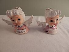 2 Vintage M J Japan Angel Bells Um Feliz Natal