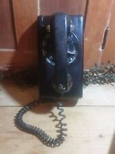 1963  Vintage Farm House Black Wall Phone Bell System 564 Western Electric