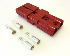 PAIR ANDERSON SB50-600V Plug-SMALL CABLE TERMINAL BATTERY POWER CONNECTOR-RED