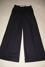 ITALIAN SPORTMAX MAX MARA TAILORED BLACK WOOL BLEND TROUSERS SIZE 8 FREE P&P