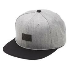 Vans Off The Wall Starter Blackout Gray Black Wool Blend Snapback Hat New NWT