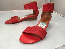 Miz Mooz Papaya Wedge Sandal Red Snake Print Sz. 8.5 M