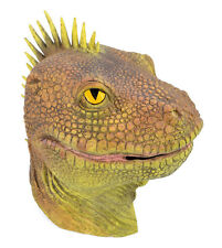 LIZARD DINOSAUR MASK ADULT OVERHEAD LATEX FANCY DRESS COSTUME REPTILE HEAD NEW