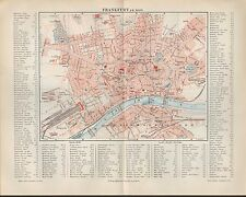 Landkarte city map 1897: Stadtplan Frankfurt am Main. Maßstab: 1 : 20.000