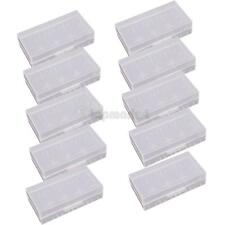 10x 18650 16430 CR123A White Waterproof Plastic Battery Holder Storage Case Box