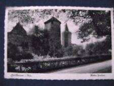 Alte Postkarte Mühlhausen/Th. 40er Jahre schwarz/weiß Hoher Graben beschrieben