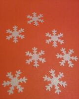 40 White Edible Snowflakes Christmas cupcake cake toppers decorations frozen