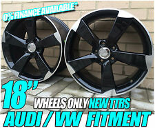 "4 x 18"" TTRS Rotor Black edition style wheels to fit VW GOLF MK5 MK6 MK7 GTI TDI"