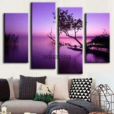 Canvas Decor Wall Art Painting Picture Purple Lake Scenery Print Gift