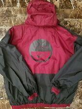 Nike Air Vintage 90s Reversable Windbreaker Hoodie Jacket XL Big logo Black Red