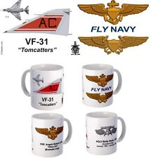 "VF-31 ""Tomcatters"" F-4, F-14 or F/A-18 mug with FREE Personalization"