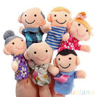 6PCS Hot Casual Baby Kids Plush Play Game Learn Story Family Finger Puppets Toys