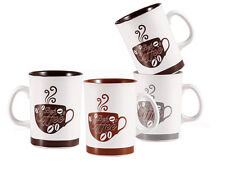 Wellberg WB-12806 Café Pause 5 Piece Mug Set With Chrome Stand Tea Coffee Cups