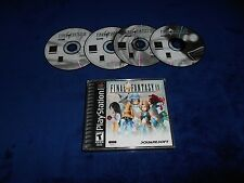Final Fantasy IX 9 Game & Case Playstation PS1 Black Label Good