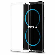 Samsung Galaxy S8  Anti-Scratch Tempered Glass Screen Protector-White