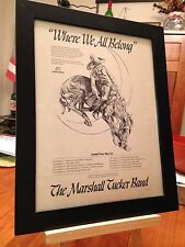 "FRAMED MARSHALL TUCKER BAND ""WHERE WE ALL BELONG"" LP CD PROMO AD w/ TOUR DATES!"