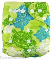 Brand New Reusable Modern Cloth Nappy (MCN) Microfiber Insert Australian Turtle