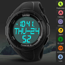 Sport Watch Pedometer Step Walking Distance Calorie Counter Activity Tracker US