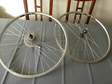 "Vintage Wolber AT400 Titanium light 26""  rims,wheels, Deore Lx FH-M560, HB-M560"