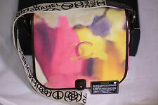 Chanel 2015 Limited Runway Flower Power Graffiti Calfskin Leather Messenger Bag