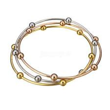 Newest Stainless Steel Women's Bracelet Jewelry Silver Gold Rose Gold Bangle Set