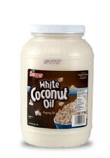 NEW WHITE COCONUT OIL 1 GALLON JAR POPCORN POPPING OIL or MAKE SOAP by SNAPPY