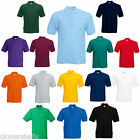 2 FRUIT OF THE LOOM POLO SHIRTS 14 COLS ALL SIZES BN