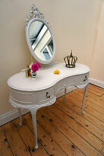 French Louis Dove Grey(Laura Ashley) Painted Shabby Chic Dressing Table Drawers