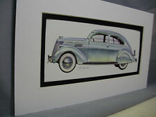 1936 Lincoln Zepher Artist Auto Museum Full color Illustrated not photo