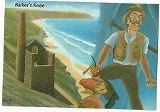 CORNISH POST CARD ART CARD BY RON PREEDY   BARKERS KNEE