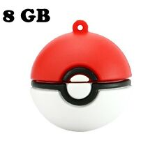8 GB Hot Game Pokemon Go Poke Ball USB 2.0 Memory Stick Pen Thumb Flash Drive