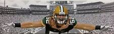 "NFL Green Bay Packers CLAY MATTHEWS (Stretch 9"" x 31"") Framed Canvas Print"