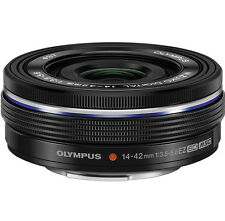 OLYMPUS M ZUIKO 14-42mm f3.5-5.6 EZ Lens BLACK - (White Box)