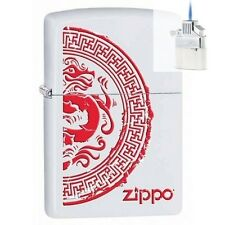 Zippo 28855 seal with dragon Lighter & Z-PLUS INSERT BUNDLE
