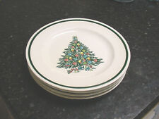Royal China Co. Christmas Tree Angel Dinner Plates