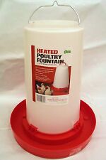 "3.3 GALLON ""HEATED"" GRAVITY POULTRY WATERER, 6ft CORD, FUNNEL FILL BASE, CHICKEN"