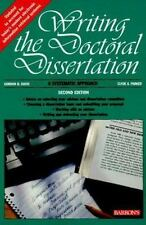 Writing the Doctoral Dissertation, Davis, Gordon B., 0812098005, Book, Good