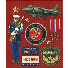 K&COMPANY STICKER MEDLEY USA MILITARY MARINES DIMENSIONAL 3D SCRAPBOOK STICKERS