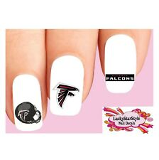 Waterslide Nail Decals Set of 20 - Atlanta Falcons Football Assorted