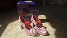 CANDYCANE MARY JANE SHOES FUNTASMA RETRO VINTAGE RED WHITE UK 6  BOXED BURLESQUE