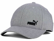 Puma new Fame Gray/Black Flex Fitted Hat Cap Large/Xlarge L/XL $28